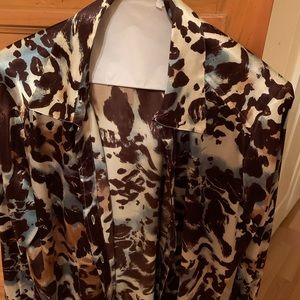 Chico's Leopard Long sleeve Blouse